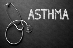Chalkboard with Asthma. 3D Illustration. Royalty Free Stock Images