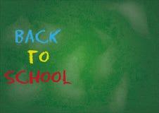 Chalkboard back to school Stock Image