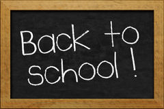 Chalkboard back to school Royalty Free Stock Images
