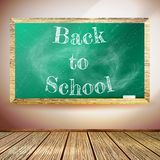 Chalkboard with Back to School text. EPS10 Stock Photos