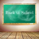 Chalkboard with Back to School text. EPS10 Stock Photography