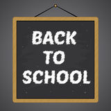Chalkboard With Back To School Writings Vector Royalty Free Stock Photo