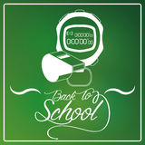 Chalkboard Background With A Drawing Royalty Free Stock Image