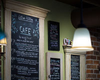 Chalkboard Bakery Menus Stock Photo