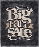 Chalkboard big fall sale design. Royalty Free Stock Photo