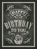 Chalkboard Birthday card design background Stock Images