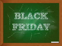 Chalkboard with Black Friday Words Royalty Free Stock Photography