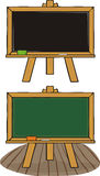 Chalkboard - black & green Stock Images