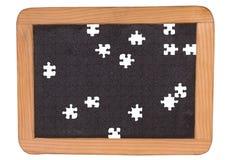 Chalkboard black puzzle Stock Photos