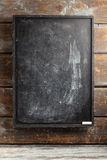 Chalkboard. Black chalkboard with smudges and white chalk royalty free stock photos
