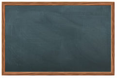 Chalkboard / blackboard. Blank chalkboard or blackboard, with wooden frame Stock Photos