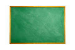Chalkboard blackboard with frame isolated. Black chalk board tex. Ture empty blank with chalk traces and wooden frame. Square Stock Images