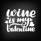 Chalkboard blackboard lettering wine is stock illustration