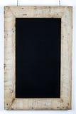 Chalkboard Blackboard Reclaimed Wood Frame Decoration Stock Photography