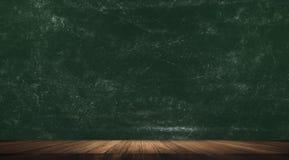 Chalkboard, blackboard z drewnianą podłoga zdjęcia royalty free
