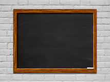 Chalkboard on Brick Wall Royalty Free Stock Photos