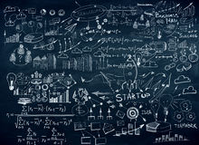 Chalkboard with business sketch Stock Photo