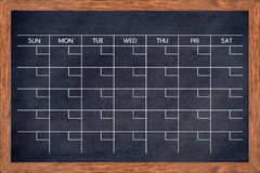 Chalkboard calendar for home or office organization. Stock Photography