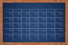 Chalkboard calendar for home or office organization. Royalty Free Stock Photo