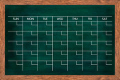 Chalkboard calendar for home or office organization. Royalty Free Stock Photography