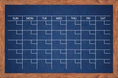 Chalkboard calendar for home or office organization. Stock Photo