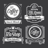 Chalkboard calligraphy banners and labels Royalty Free Stock Photography