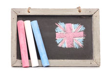 Chalkboard and chalk Stock Photo