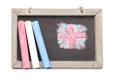 Chalkboard and chalk Stock Photo