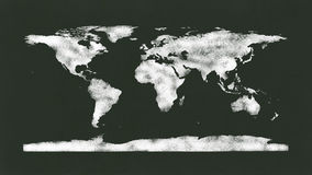 Chalkboard - Chalk World Map. Chalkboard with a wold map drawn in chalk. Nasa map from http://visibleearth.nasa.gov/view.php?id=74192 used as reference to redraw Royalty Free Stock Image