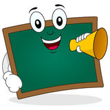 Chalkboard Character Holding Megaphone Royalty Free Stock Photography