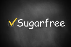 Chalkboard checkbox checked sugarfree Royalty Free Stock Photography