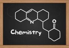 Chalkboard. With chemical structure. This is file of EPS10 format Royalty Free Stock Photos