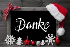 Chalkboard, Christmas Decoration, Ball, Tree, Danke Means Thank You