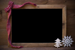 Chalkboard With Christmas Decoration And Copy Space Stock Photography