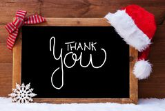Chalkboard, Christmas Decoration, Santa Hat, Calligraphy Thank You