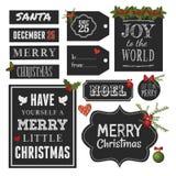 Chalkboard Christmas Design Elements royalty free illustration