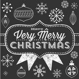 Chalkboard Christmas Greeting Stock Photos