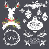 Chalkboard Christmas Set Royalty Free Stock Photo