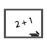 Chalkboard class school chalk pictogram Stock Image