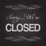 Chalkboard Closed Sign Vector Royalty Free Stock Photography