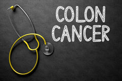 Chalkboard with Colon Cancer. 3D Illustration. Stock Images