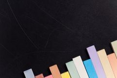 Chalkboard with colorful chalk Royalty Free Stock Images