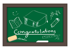 CHALKBOARD Congratulations on graduating. Vector :  CHALKBOARD Congratulations on graduating Royalty Free Stock Photos