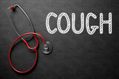 Chalkboard with Cough Concept. 3D Illustration. Stock Photography