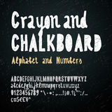 Chalkboard and crayon alphabet Royalty Free Stock Photography