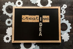 Chalkboard creative concept Stock Images