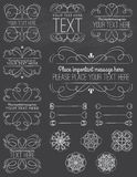 Chalkboard Curvy Frames & Design Elements. A collection of frames and design elements in a chalkboard style. Transparencies Two Layers Royalty Free Stock Image