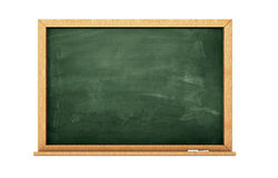 Chalkboard. 3d render of a green chalkboard isolated on white Stock Photography