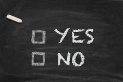 chalkboard decyzja Obrazy Stock