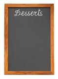 chalkboard deserów menu Obraz Royalty Free